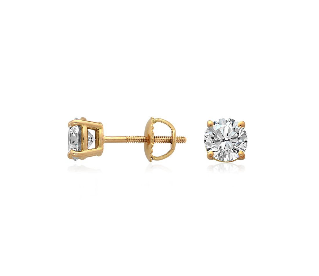 Diamond Earrings in 18k Yellow Gold (2 ct. tw.)