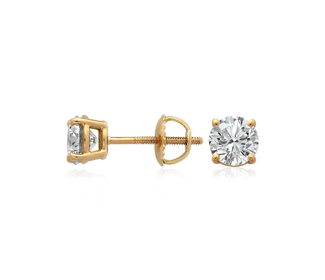 Diamond Earrings in 18k Yellow Gold (3 ct. tw.)