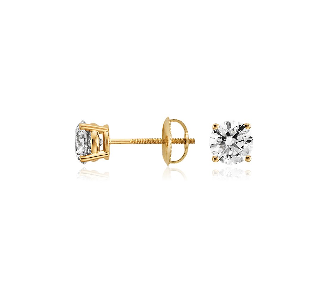 Diamond Earrings in 18k Yellow Gold (1 1/2 ct. tw.)