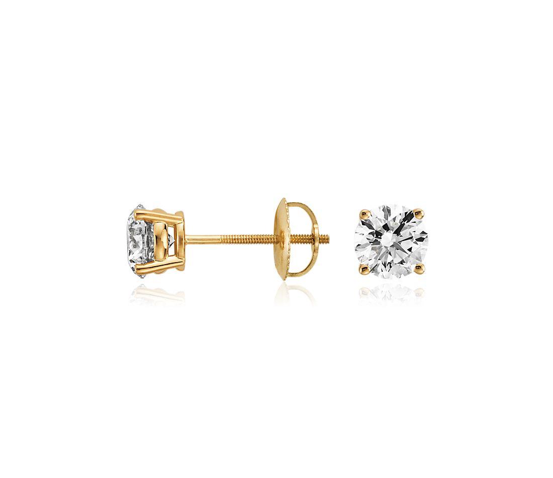 Diamond Earrings in 18k Yellow Gold (1 1/2 ct. tw.)