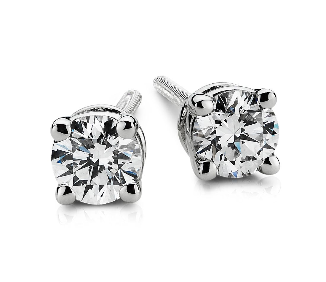 Platinum Four-Claw Diamond Stud Earrings (1/4 ct. tw.)