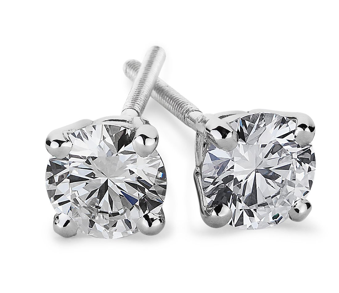 Diamond Earrings in Platinum (3/4 ct. tw.)