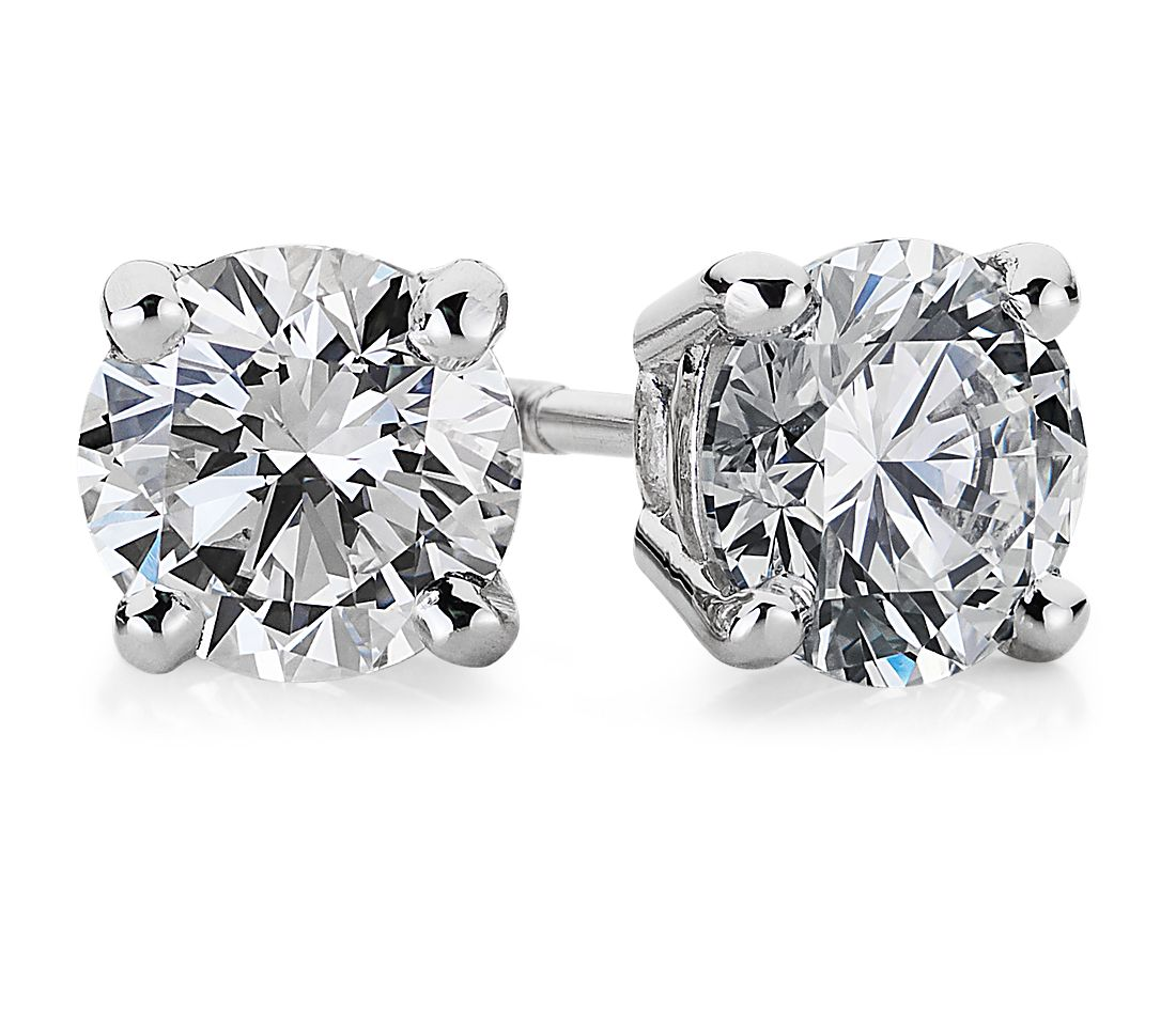 Diamond Earrings in Platinum (1 ct. tw.)