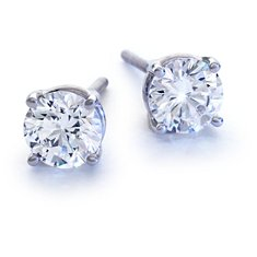 Platinum Four-Claw Earring Setting