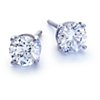 Platinum Four-Prong Earring Setting