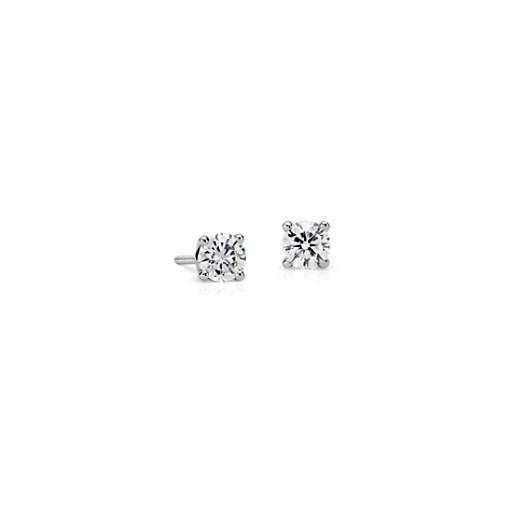 Diamond Stud Earrings in 18k White Gold (1/2 ct. tw.)
