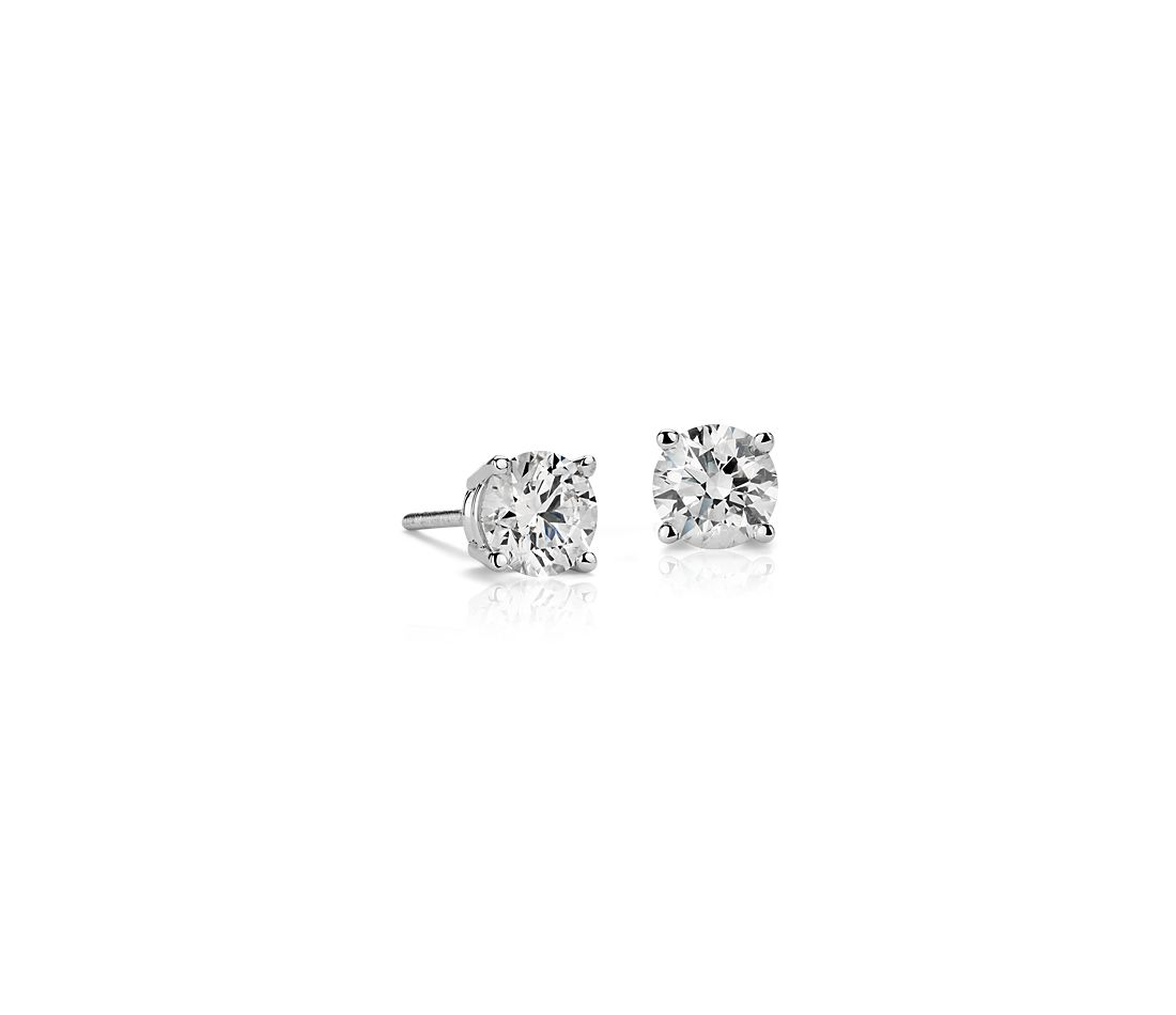 Diamond Stud Earrings in 18k White Gold (1.20ct. tw.)