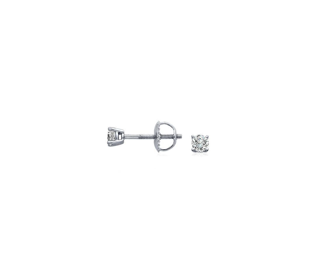 Diamond Stud Earrings in 18k White Gold (1/4 ct. tw.)