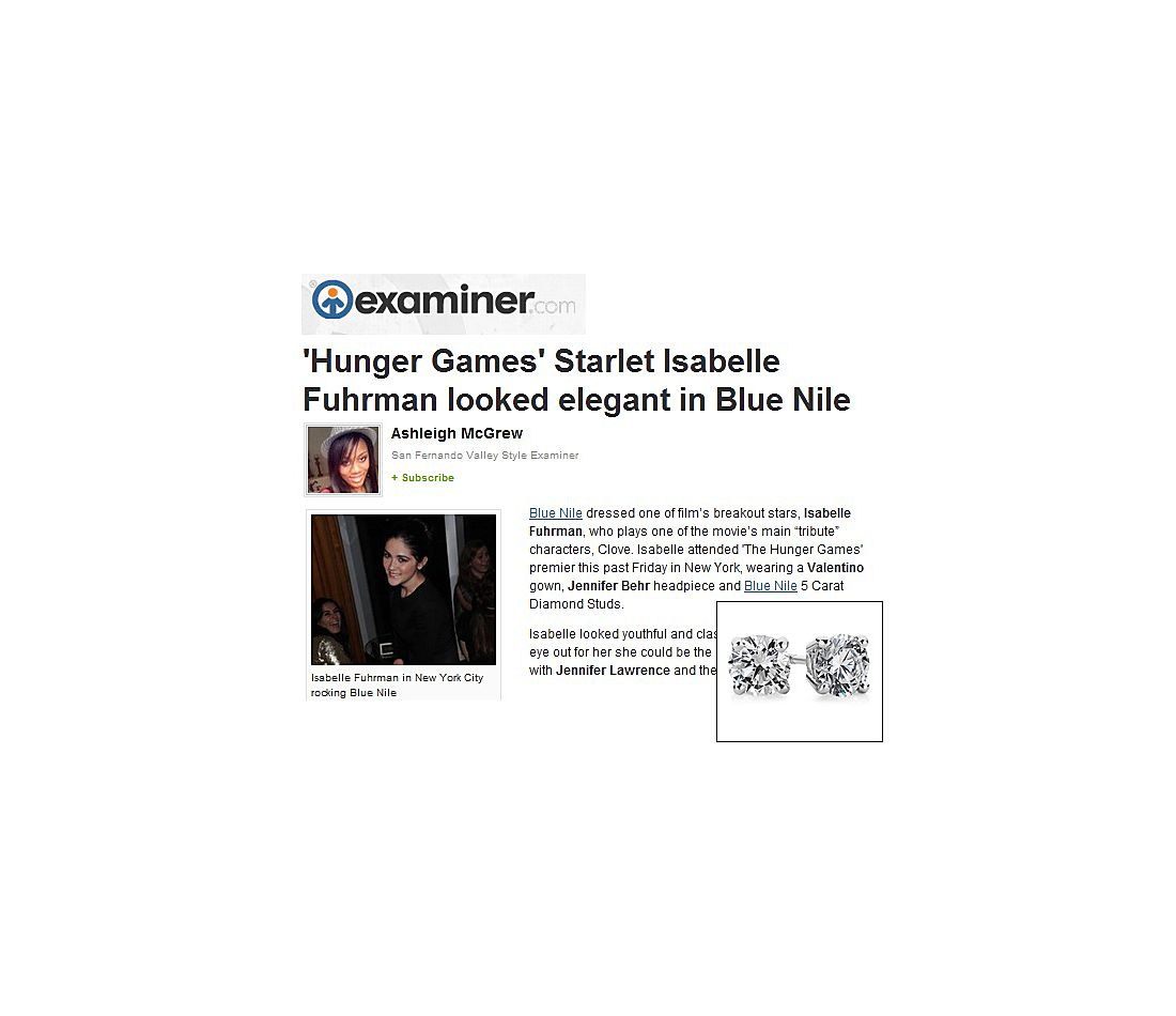 Examiner.com - Diamond Studs As Seen on Isabelle Fuhrman