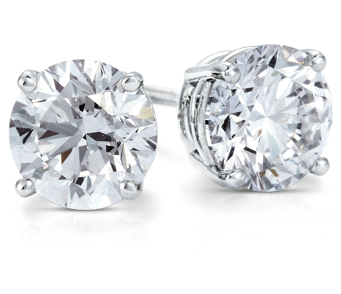 Diamond Earrings in 18k White Gold (2 ct. tw.)