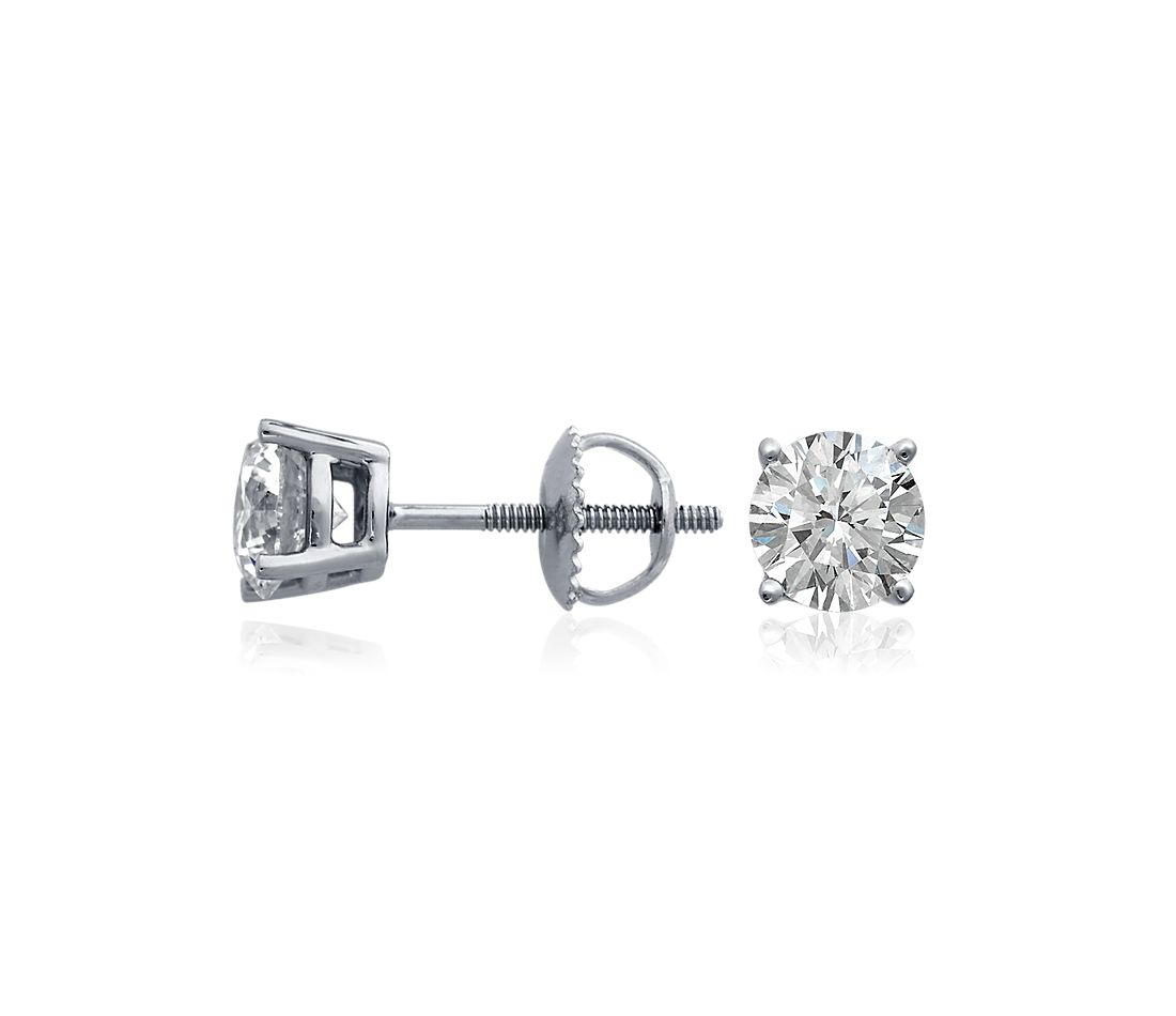 Diamond Earrings in 18k White Gold (3 ct. tw.)