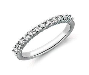 Diamond Prong-Set Ring in Platinum (3/8 ct. tw.)