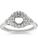 Flora Vida™ Halo Diamond Engagement Ring in Platinum