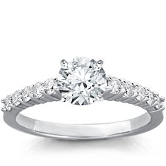 Bella Diamond Engagement Ring in 18k White Gold (1/3 ct. tw.)