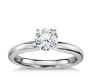 Classic Comfort Fit Engagement Ring in 14k White Gold (2.5mm)