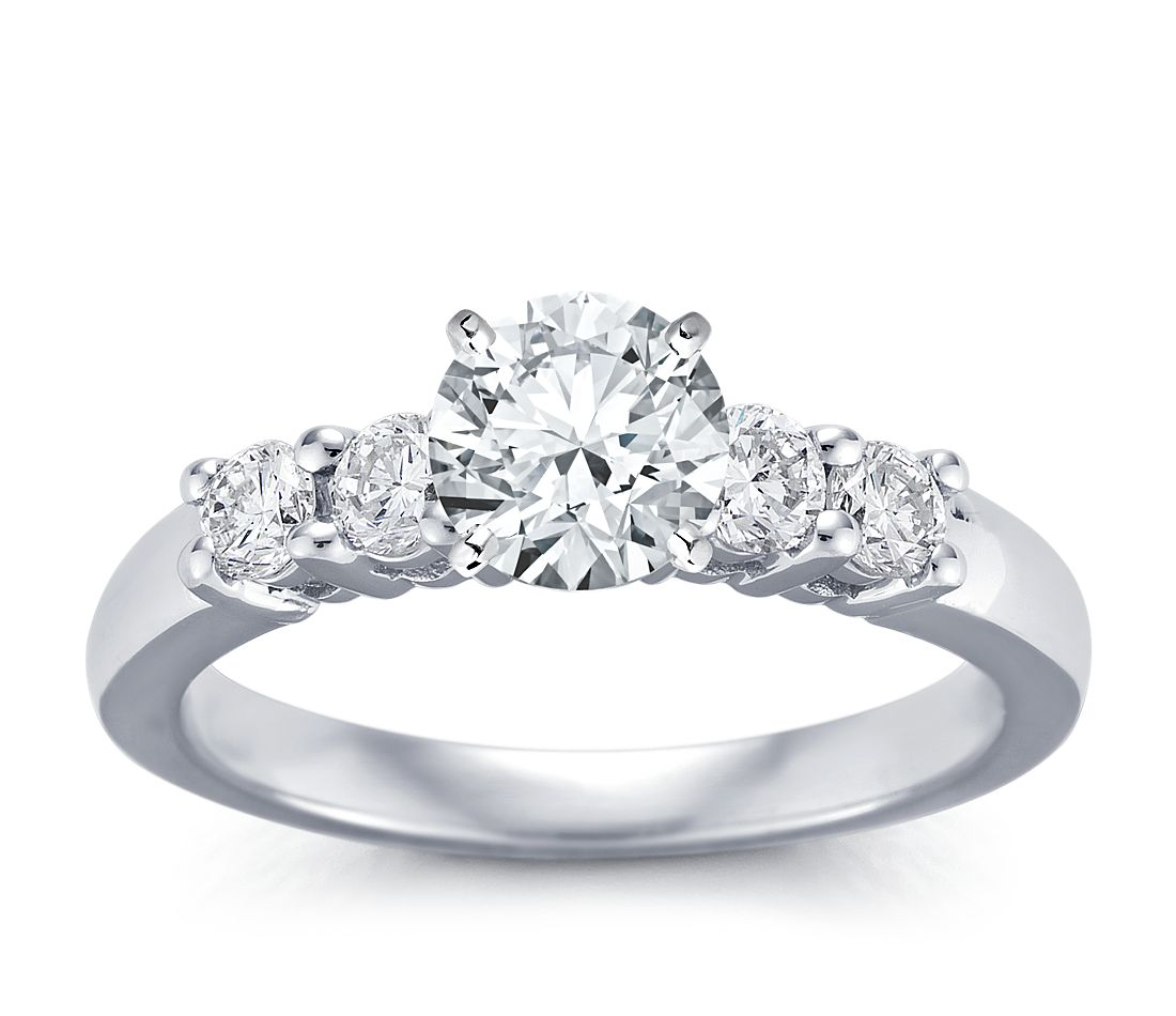 Classic Four Stone Diamond Engagement Ring in 18k White Gold (3/8 ct. tw.)