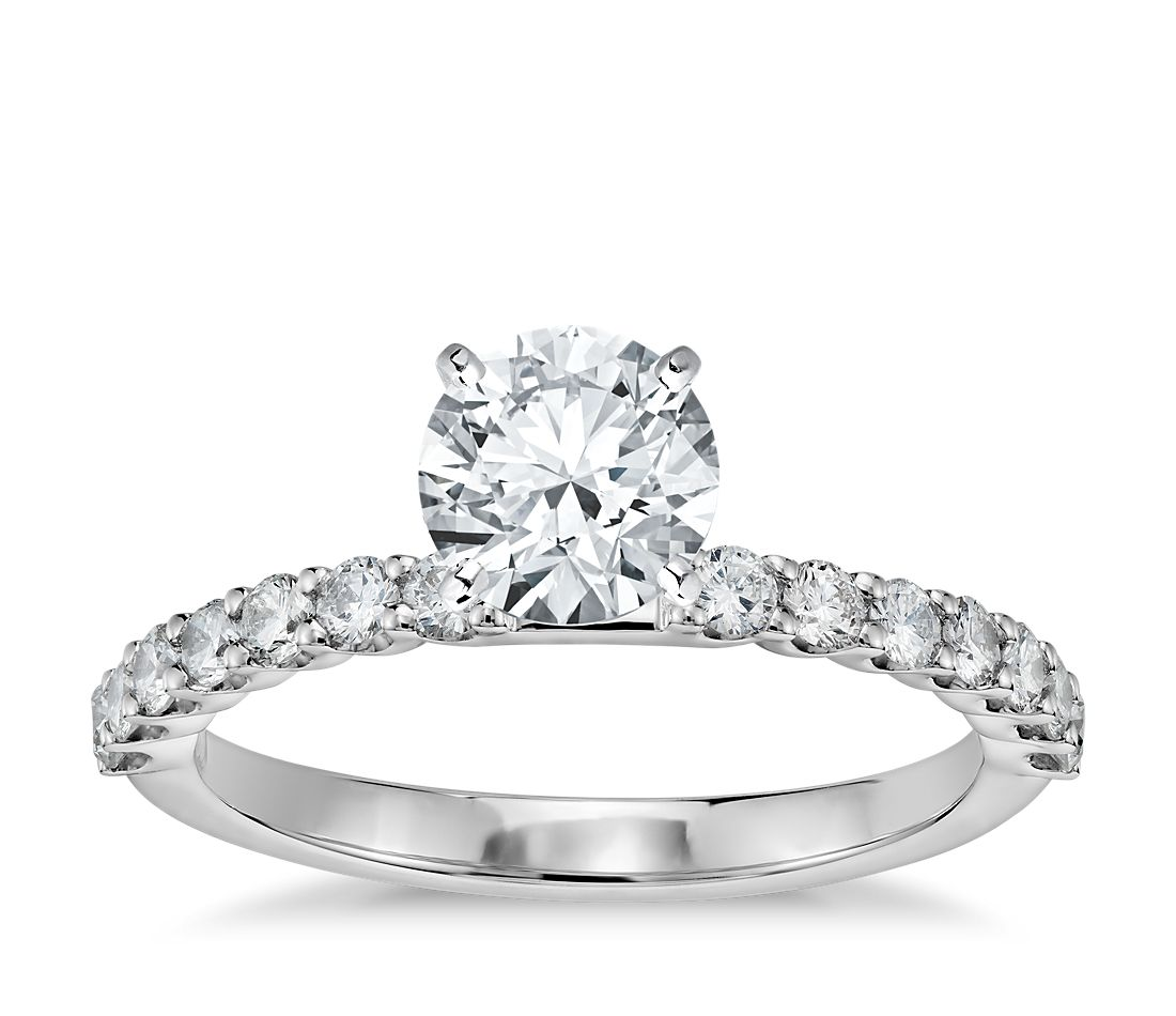 Petite U-Prong Diamond Engagement Ring in 14K White Gold (1/3 ct. tw.)