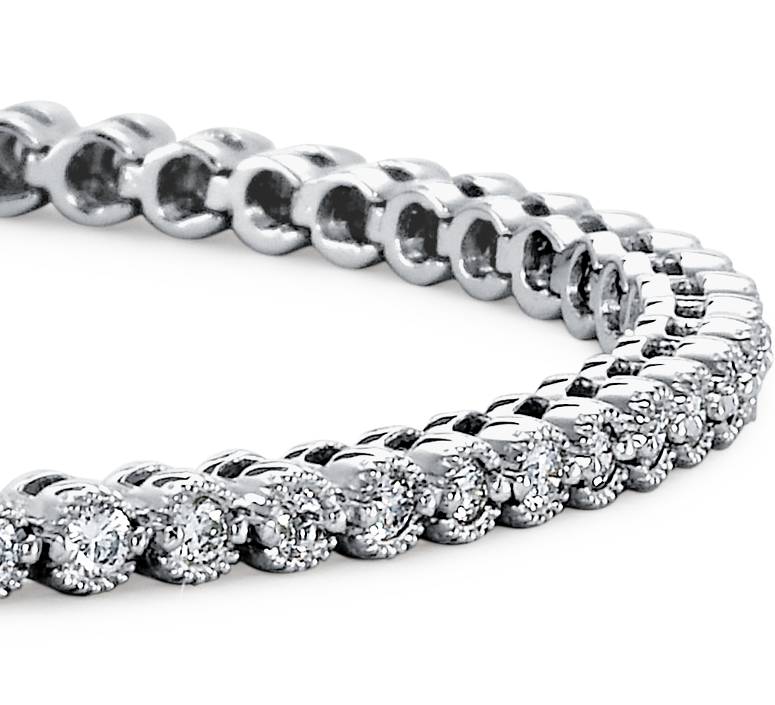 Diamond Tennis Bracelet in 18k White Gold (1 ct. tw.)