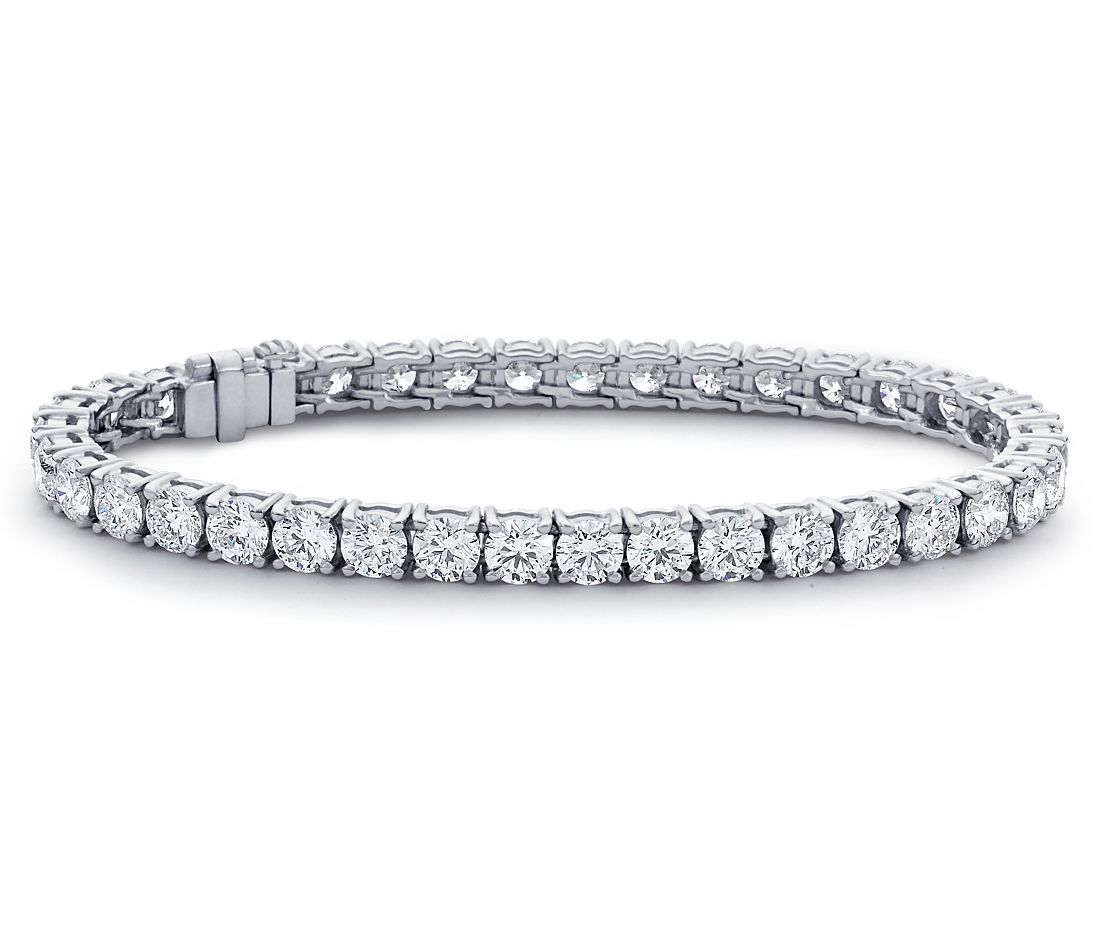 Diamond Eternity Tennis Bracelet in Platinum (12 ct. tw.)
