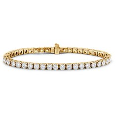 Bracelet tennis diamants en Or jaune 18 ct (7 carats, poids total)