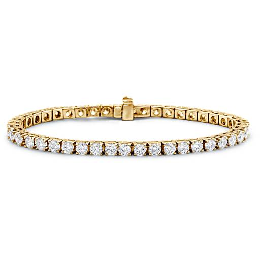 Bracelet tennis diamants en or jaune 18 carats (7 carats, poids total)