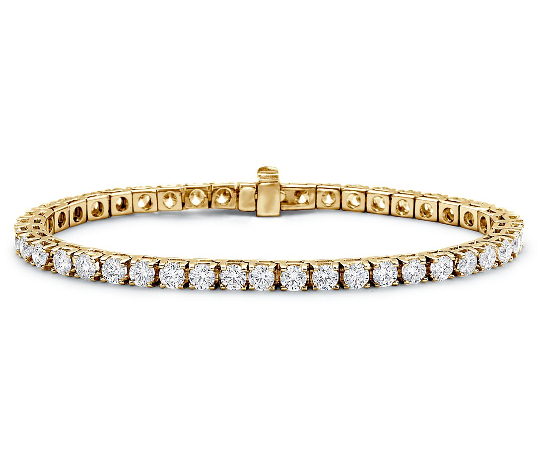 Diamond Tennis Bracelet in 18k Yellow Gold (7 ct. tw ...