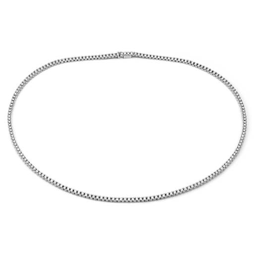 NEW Diamond Eternity Necklace in 18k White Gold - F / VS2 (4.75 ct. tw.)