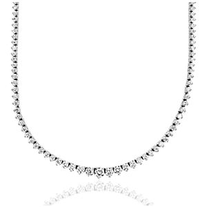 NEW Diamond Eternity Necklace in 18k White Gold - F / VS (5 ct. tw.)