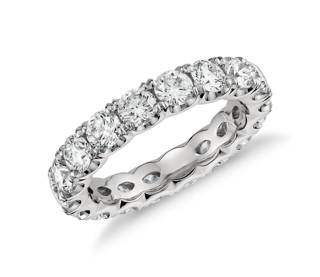 Diamond Eternity Platinum: Scalloped Prong Diamond Eternity Ring In Platinum (3 Ct