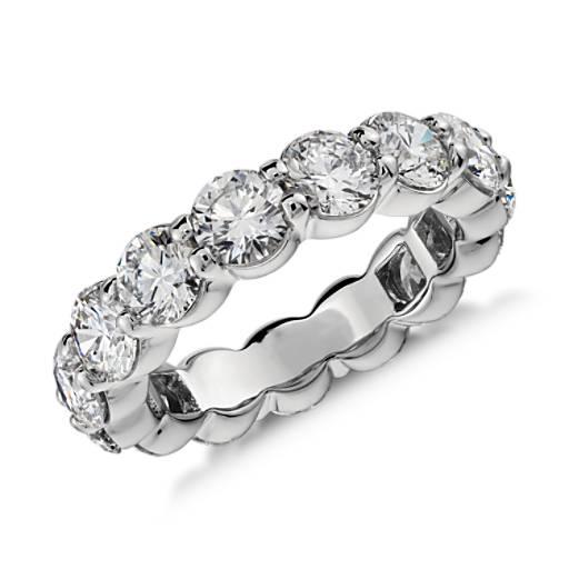 Bague d'éternité diamant en platine (5carats, poids total)