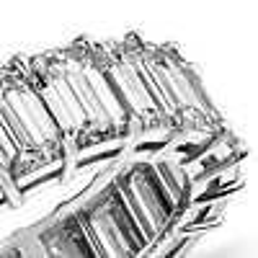 Emerald Cut Diamond Eternity Ring in Platinum (9.00 ct. tw.)