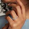 Bague d'éternité en diamants sertis pavé en or blanc 18carats (1/2carat, poids total)