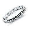 Anillo de eternidad de diamantes en platino (2 qt. total)
