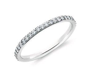 Pavé Diamond Eternity Ring in 18k White Gold (1/2 ct. tw.)