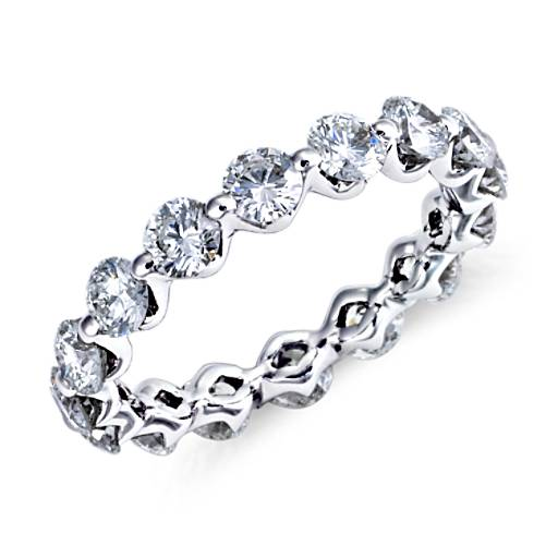 Floating Diamond Eternity Ring in Platinum