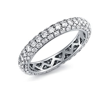 Pav© Diamond Eternity Ring in 18k White Gold (2 ct. tw.)