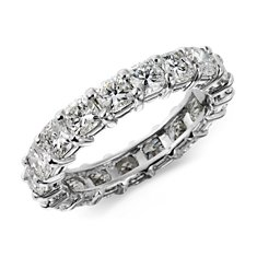 Cushion-Cut Diamond Eternity Ring in Platinum (3 1/2 ct. tw.)