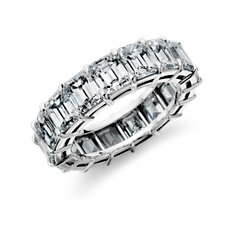 Emerald-Cut Diamond Eternity Ring in Platinum (9.00 ct. tw.)