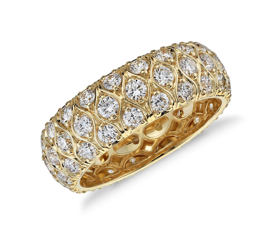 Radiance Diamond Eternity Ring in 18k Yellow Gold (2 ct. tw.)