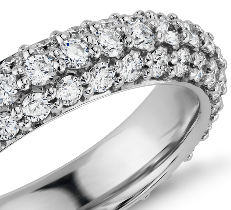Starlight Pavé Diamond Eternity Ring in Platinum (1 3/4 ct. tw.)