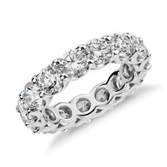U-Claw Diamond Eternity Ring in Platinum (5 ct. tw.)
