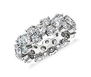 Bague d'éternité diamant guirlande en platine (5carats, poids total)