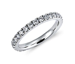 Nouveau Diamond Eternity Ring in Platinum