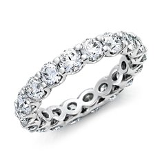 U-Claw Diamond Eternity Ring in Platinum (3 ct. tw.)