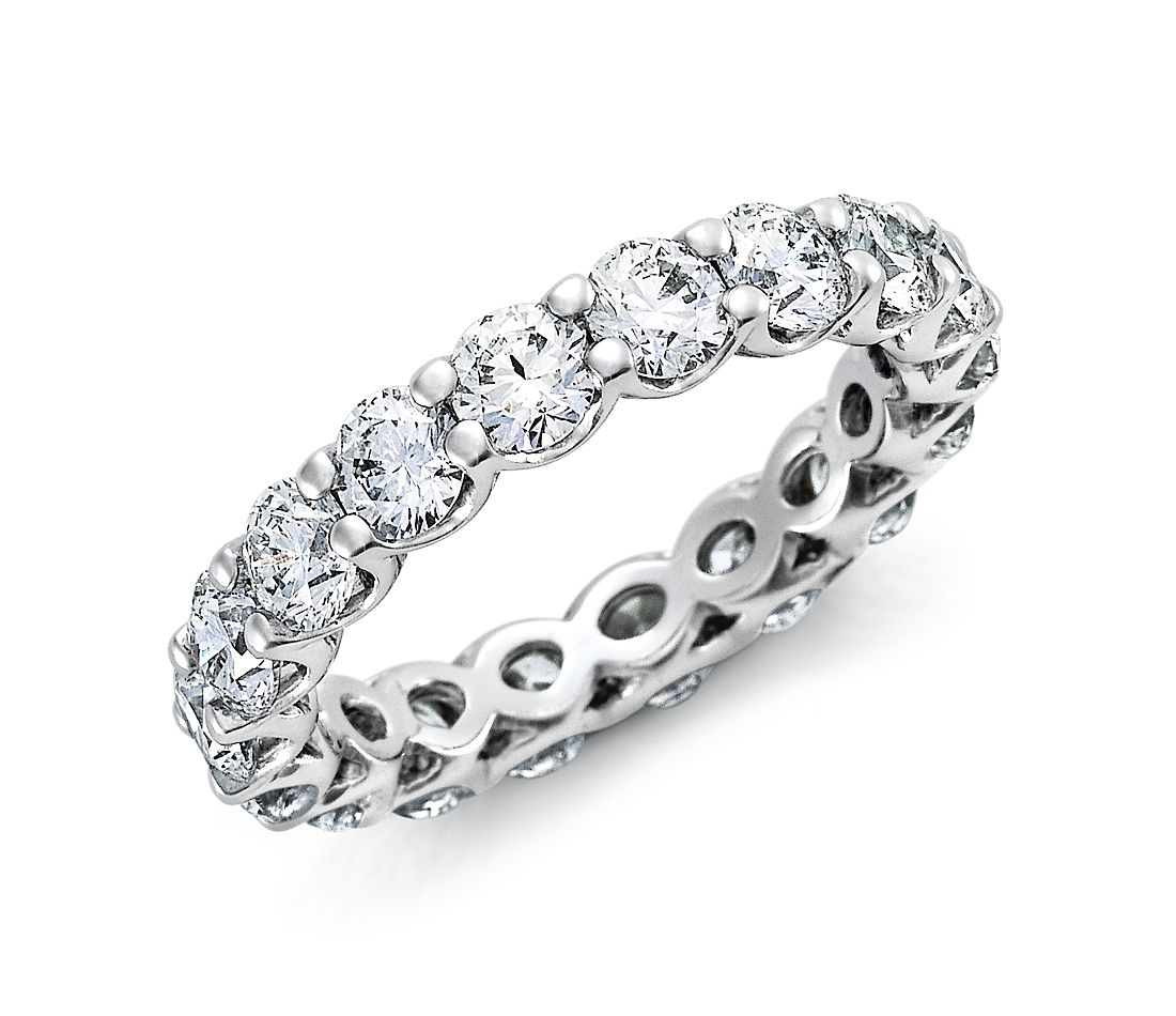 U-Prong Diamond Eternity Ring in Platinum (3 ct. tw.)
