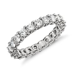 U-Claw Eternity Diamond Ring in Platinum (2 ct. tw.)