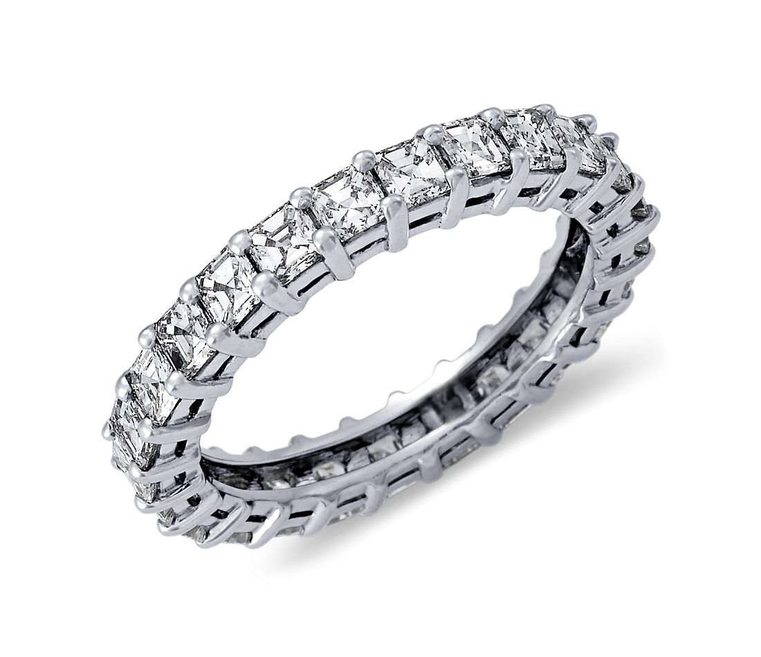 Asscher Cut Diamond Eternity Ring in Platinum (2 ct. tw.)