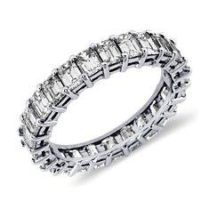 Emerald Cut Diamond Eternity Ring in Platinum (3 ct. tw.)