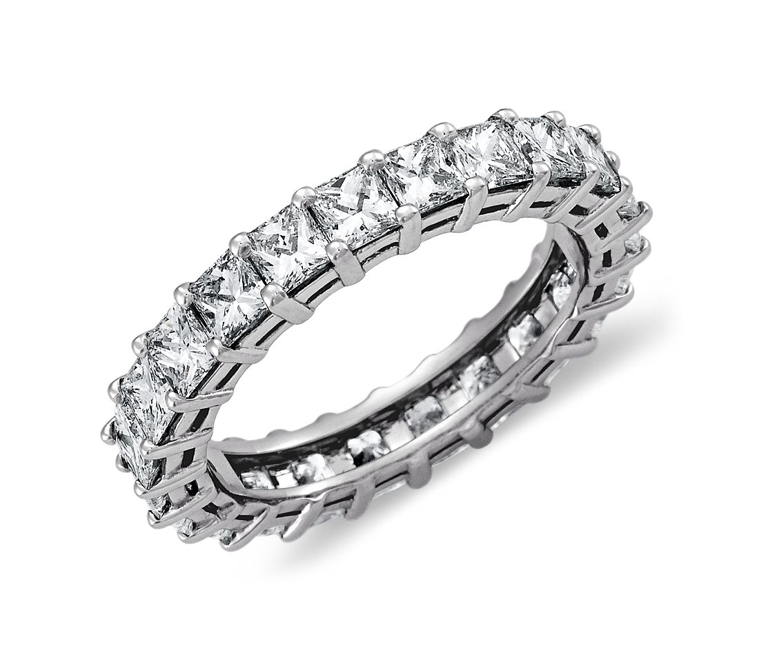 Princess Cut Diamond Eternity Ring in Platinum (3 ct. tw.)