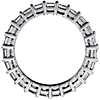 Anillo de eternidad de diamantes de talla Asscher en platino (3 qt. total)